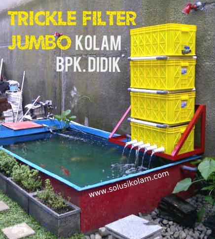trickle filter jumbo - 4 susun - solusi kolam